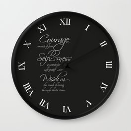 Accept Your Faults Wall Clock