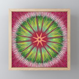 Digital oil painting mandala Framed Mini Art Print