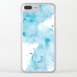 Creative watercolor wash. Watercolor texture Clear iPhone Case