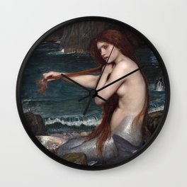 John William Waterhouse, Mermaid, 1900 Wall Clock