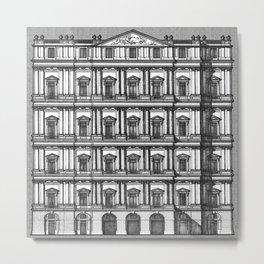 Windows and Columns Metal Print