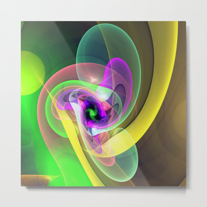 Blow up, ethereal fractal abstract Metal Print