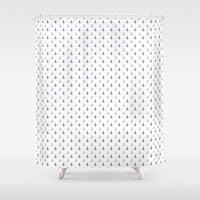 sailor Shower Curtains featuring SAILOR by Stylegrafico