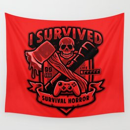 I Survived Survival Horror Wall Tapestry