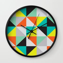 Colorful square pattern Wall Clock