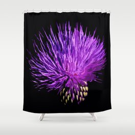 Cirsium Shower Curtain