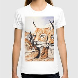 The Lynx Family Watercolor (Color) T-shirt