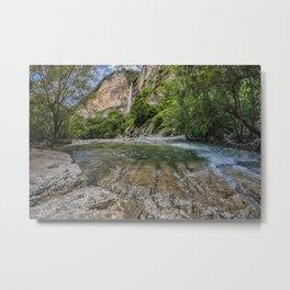 Waterfall in beautiful Okatse Canyon in Georgia, Europe Metal Print