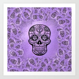 Skull20170241_by_JAMFoto Art Print