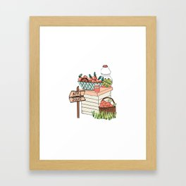 Apple Stand Framed Art Print