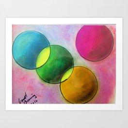 Garrett Browning Planets Art Print