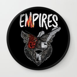 Empires House Fire Print Wall Clock