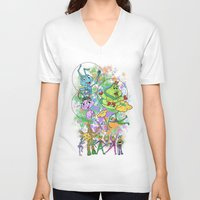 pixar V-neck T-shirts featuring Disney Pixar Play Parade - Bug's Life Unit by Joey Noble