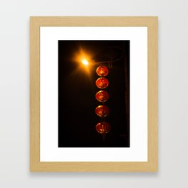 Street Lanterns in Taiwan Framed Art Print