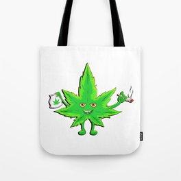 Funny Marijuana Leaf for 420 Weed Smokers Tote Bag
