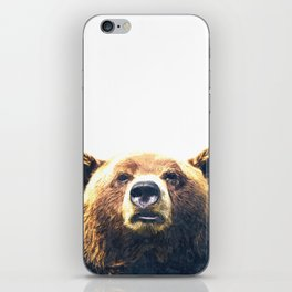 Bear portrait iPhone Skin