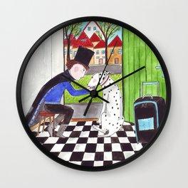Der Zauberer und sein Dalmatiner Wall Clock