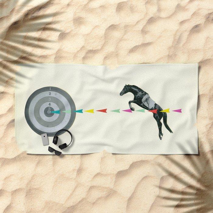 On Target : Sagittarius Beach Towel