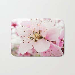 Pink Plum Blossoms Bath Mat