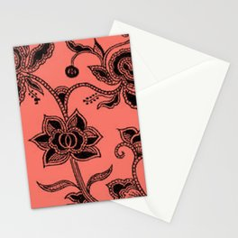 Vintage Floral Peach Echo Stationery Cards