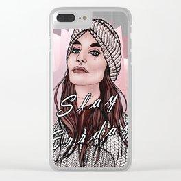 Slay Errday Tuff Girl Illustration Clear iPhone Case