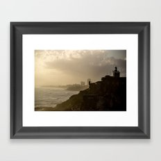 Puerto Rico From Old to New Framed Art Print