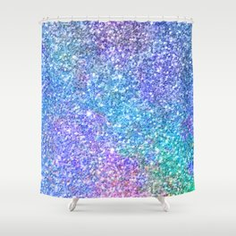 Colorful Glitter Texture Shower Curtain