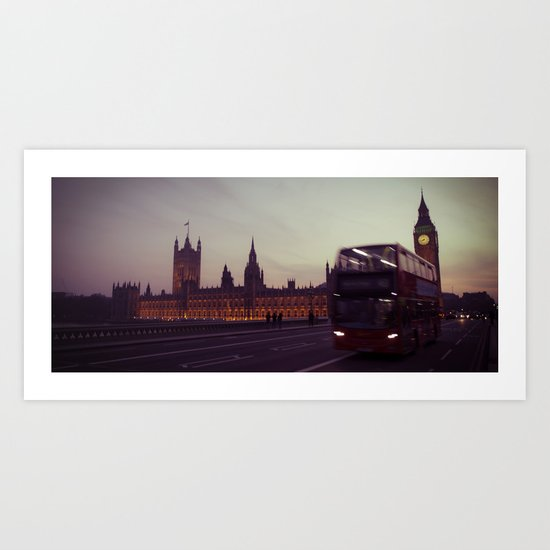 Big Ben at dusk, London | cinematic Art Print
