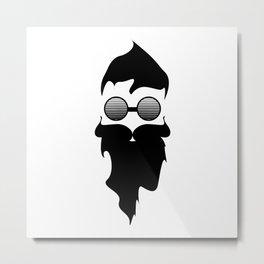 Hipster Beard Metal Print