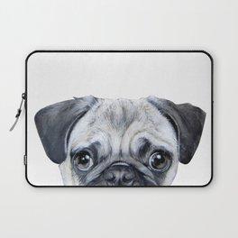 pug Dog illustration original painting print Laptop Sleeve