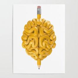 Pencil Brain Poster