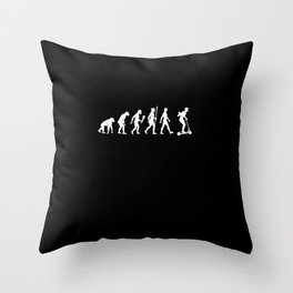 Funny New Scooter Evolution Rider Gift Idea Throw Pillow