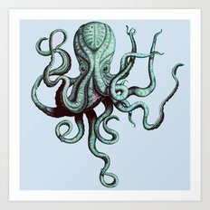 Vintage Octopus Art Print