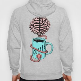 Coffee for the brain. Funny coffee illustration Hoody