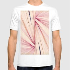 Botanical Candy White MEDIUM Mens Fitted Tee