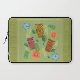 Bamboo Tiki Room Pattern Laptop Sleeve