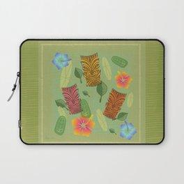 Bamboo Tiki Room Pattern Laptop Sleeve