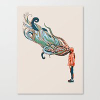 huebucket Canvas Prints featuring Octopus in me by Huebucket