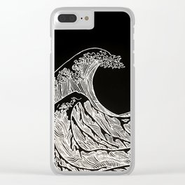 Silver Wave Clear iPhone Case