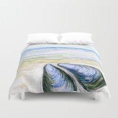 Blue mussel Duvet Cover