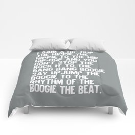 RAPPERS DELIGHT Hip Hop CLASSIC MUSIC Silver Comforters