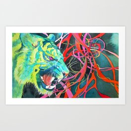 Naughty Kitty Art Print
