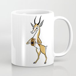 Springbok with a folding camera Coffee Mug