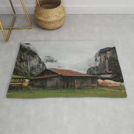 Camping Grounds of Lauterbrunnen, Switzerland Rug