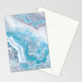 Ocean Foam Mermaid Marble Stationery Cards
