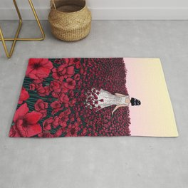 Field of Poppies Colour Version Rug