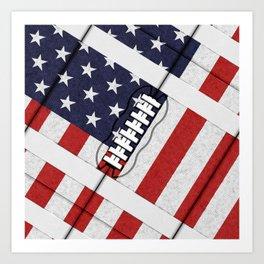 4th of July American Football Fanatic Art Print