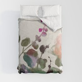 floral abstract summer autumn Comforters
