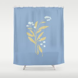 Forget Me Nots 1 Shower Curtain