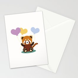 Lovely Red Panda Stationery Cards
